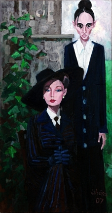 Mother and daughter, 2007, oil on canvas, 150 x 80 cm